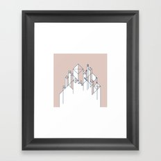 #345 For here we have no lasting city, but we seek the city that is to come. – Geometry Daily Framed Art Print