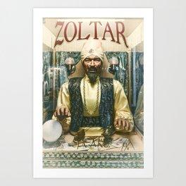 Zoltar the fortune teller London England UK Art Print
