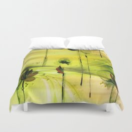 Dancing Flowers Abstract Duvet Cover