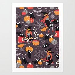 Enchanted Vintage Halloween Spell Art Print