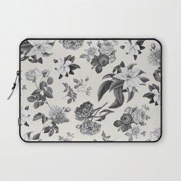Vintage flowers on cream blackground Laptop Sleeve