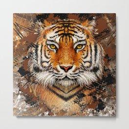 Tiger Profile Metal Print
