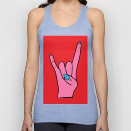 The Horns - Rock On Unisex Tank Top