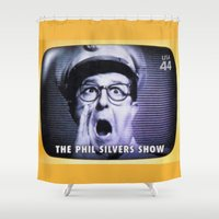 phil jones Shower Curtains featuring The Phil Silvers Show by lanjee