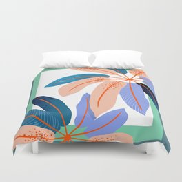 tropical plants Duvet Cover