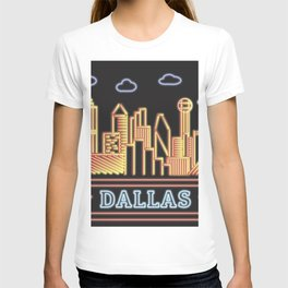 Dallas Neon City T-shirt
