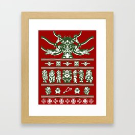 Chrono Christmas Sweate Framed Art Print
