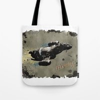 firefly Tote Bags featuring Firefly by Ralf Crawford