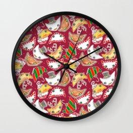 """Oro?"" Christmas WINE RED Wall Clock"
