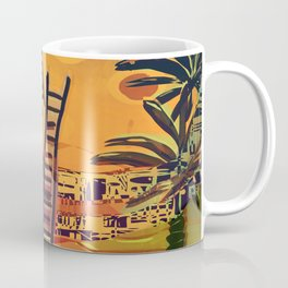 Time through Time, from Caves to Skyscraper, from Organic to Geometric Coffee Mug