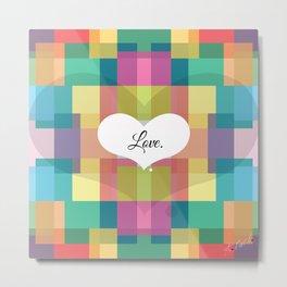 Love. Metal Print