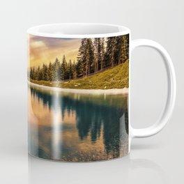 Lake Mountains and Sunset Coffee Mug