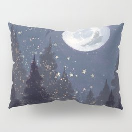 Full Moon Landscape Pillow Sham