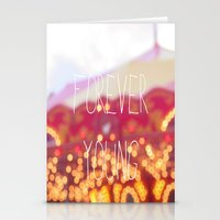 forever young Stationery Cards featuring Forever Young by KrashDesignCo.