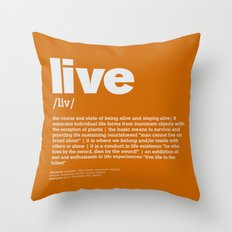 definition LLL - Live 10 Throw Pillow