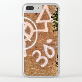 Philadelphia Spray Paint Marking Clear iPhone Case
