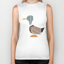 { the geometric forest series - mallard } Biker Tank
