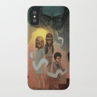 wes anderson iPhone & iPod Cases featuring Wes Andersons - A Bad Dad by Dave Greco