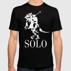 Solo Lauren LARGE Black Mens Fitted Tee
