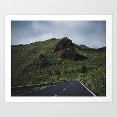 Road to Los Gigantes, Tenerife Art Print