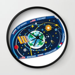 Expedition 52 Actual Flight Patch Wall Clock
