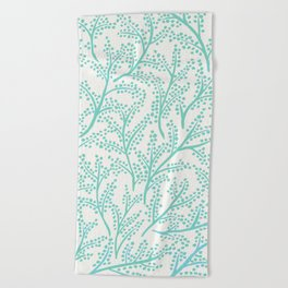 Branches – Mint Palette Beach Towel
