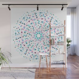 Splatter Swirl Aqua Wall Mural