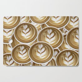 Latte Hearts Cutting Board