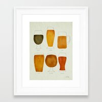 beer Framed Art Prints featuring Beer by Cat Coquillette