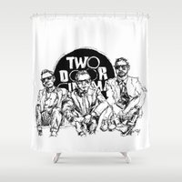 cinema Shower Curtains featuring Two Door Cinema Club by artbysteph