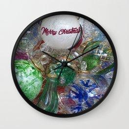 Merry Christmas Murano glass ornaments Wall Clock
