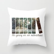 I'm Going on an Adventure - Galaxy II Throw Pillow