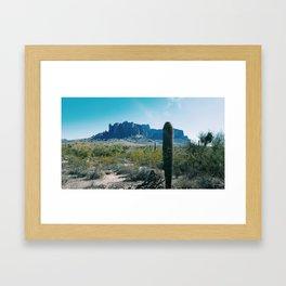 Superstition Mountains Framed Art Print