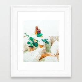 Me + Monstera #painting #minimal Framed Art Print