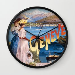 Old Sign / Geneve Affiche - Paris Wall Clock