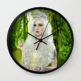 Melanie Goth Princess in the forest Wall Clock