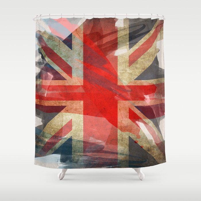Union Jack Shower Curtain by honeydrippdesigns