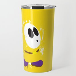 Yellow Shy Guy Splattery Design Travel Mug