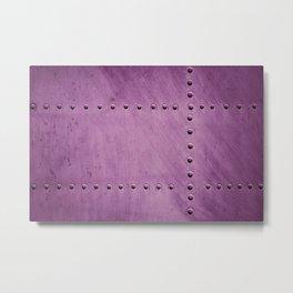 Purple Rivets Airfoil Texture Aluminum Metal Pattern Metal Print