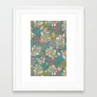 polkadot Framed Art Prints featuring Camouflage Polkadot by Pattern Penny