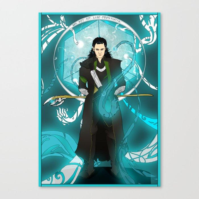 Loki Nouveau Canvas Print