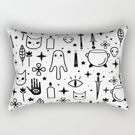 Spirit Symbols White Rectangular Pillow