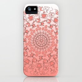 Living coral coffee mandala No1 iPhone Case
