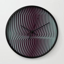 OpArt WaveLines 1 Wall Clock