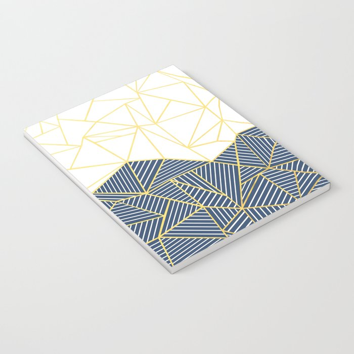 Ab Half and Half Navy Gold Notebook