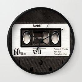 Cassette Tape Black And White #decor #homedecor #society6 Wall Clock