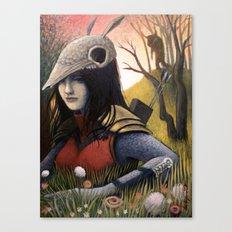 Armadillo Girl Canvas Print