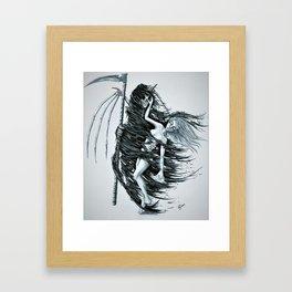Grim Reaper Love Framed Art Print