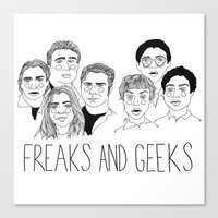 cactei Canvas Prints featuring Freaks and Geeks by ☿ cactei ☿