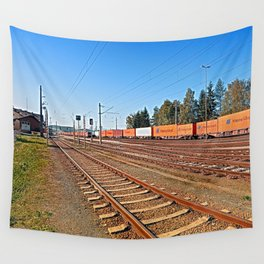 Summerau railway station | architectural photography Wall Tapestry